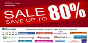 80% Discount Coupon Hotels Booking